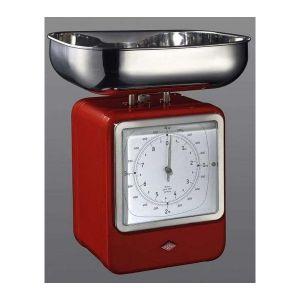 Wesco Balance de cuisine Rétro avec horloge