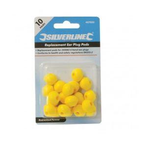 Silverline 457023 - Paquet de 10 bouchons d'oreilles pour arceau