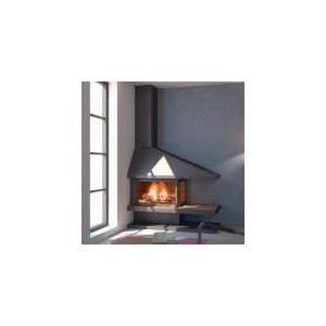 Focgrup Elvara - Cheminée métallique asymétrique 14 kw
