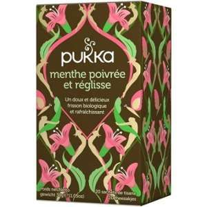 Pukka Tisane Réglisse Menthe poivrée BIO 20 sachets