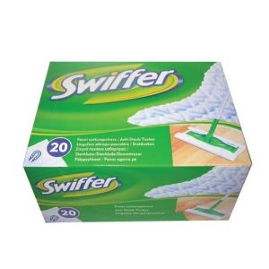 Swiffer 20 lingettes recharge balai pour nettoyage intérieur