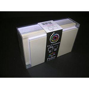 Clairefontaine 20841C - Coffret de 40 enveloppes 90x140 + 40 cartes 82x128 (5 couleurs Mariage)