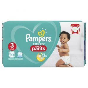 Pampers Baby-Dry Pants Taille 3, 6-11 kg, 44 Couches-Culottes - Les couches-culottes Baby-Dry Pants sont faciles à enfiler et à enlever en déchirant les côtés.
