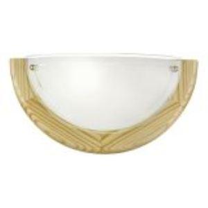 Eglo Applique Ufo en verre et bois