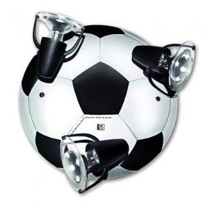 Waldi Plafonnier ballon de football 3 ampoules