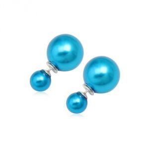 Blue Pearls Cry 8347 T - Boucles d'oreilles en perles et argent 925°
