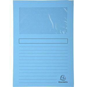 Image de Exacompta 50106E - Paquet de 100 chemises à fenêtre FOREVER, coloris bleu clair
