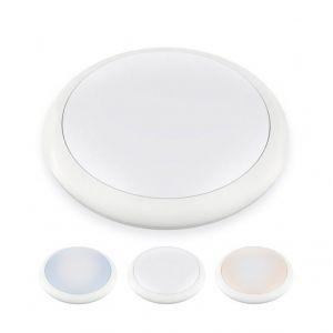 Delitech Hublot LED Rond IP65-12W-270mm-NOVA -Triple couleur de bla