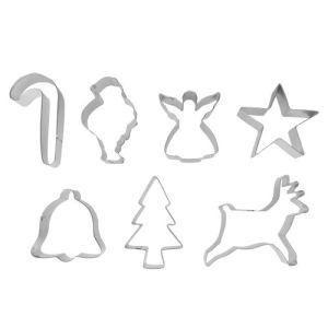 Ibili 723800 - 7 emporte-pièces étamés Noël