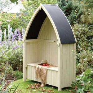 Rowlinson Tonnelle / Coffre en bois toit métal Winchester - PERWIN