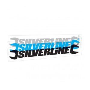 Silverline 244960 - Autocollant pour vitrine 40cm cyan (extérieur)