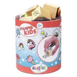 Aladine Kit de tampons Stampo kids - Licornes - 16 pcs