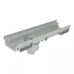 CABS773 - Caniveau 130 bas PVC 0,5m avec siphon Ø 50 cm