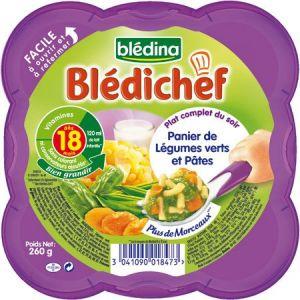 Blédina Blédichef : Panier de légumes verts et pâtes 260g - dès 18 mois