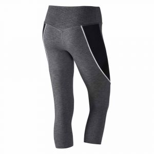Nike Collants Power Legendary Capri Mid Rise - Charcoal Heather / Black / White / Blue - Taille M