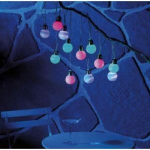 Lunartec Guirlande lumineuse solaire multicolore - 5 mètres
