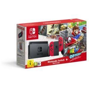 Nintendo Console Switch + 1 paire de Joy-Con rouge + Super Mario Odyssey - Edition Limitée
