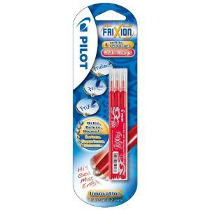 Pilot 3 recharges rouge pour stylo Frixion