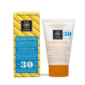 Apivita Sun Visage - Crème solaire pour peaux normales et sèches SPF30