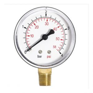 """Plumbing4home 60mm 4bar huile de l'air de la jauge de pression de 60 psi ou de l'eau 1/4 """"""""BSPT entrée latérale manomètre - FERRO"""
