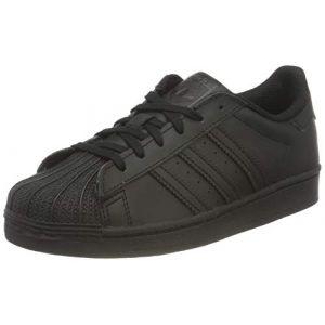 Adidas Chaussures enfant SUPERSTAR C - Couleur 28,29,30,31,32,33,34,35,33 1/2,31 1/2,30 1/2 - Taille Noir