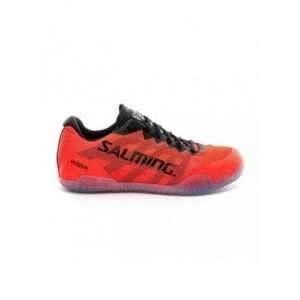 Salming Hawk Indoor Shoes - Men - Black / Lava Red - 41 1/3