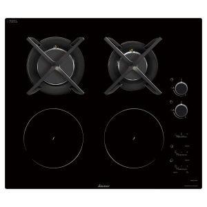 Sauter Plaque de cuisson mixte gaz / induction noire SPI9602BM