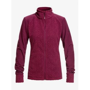 Roxy Surface Through Veste zippée Femme, grape wine losange jacquard M Vestes en polaire