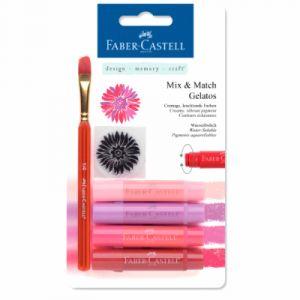Faber-Castell Crayons Gelatos 4 nuances de rouge