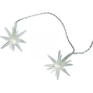 Guirlande lumineuse à motifs pour l'extérieur 07-C008 Ampoule LED blanc chaud étoiles