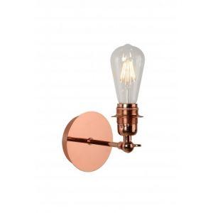 Lucide Applique avec ampoule LED filament en métal cuivré hauteur 28cm Rétro