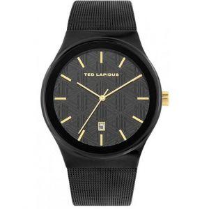 Ted Lapidus Montre 5131803 - Montre Dateur Bracelet Milanais Noir Homme