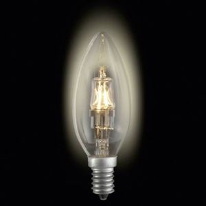 Sygonix Ampoule halogène Eco 28923Y E14 42 W = 60 W blanc chaud forme de flamme à intensité variable 1 pc(s)
