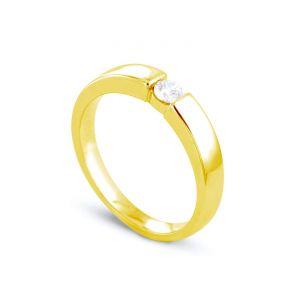 Rêve de diamants 3612030095313 - Bague en or jaune sertie d'un diamant