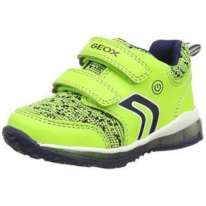 Geox B Todo C, Sneakers Basses Bébé Garçon, Jaune (Lime/Navy), 24 EU