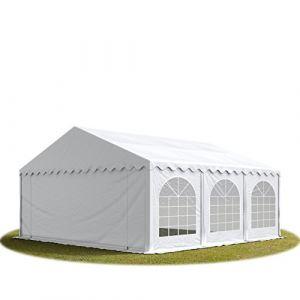 Intent24 TOOLPORT Tente Barnum de Réception 5x6 m PREMIUM Bâches Amovibles PVC 500 g/m² blanc + Cadre de Sol Jardin.FR