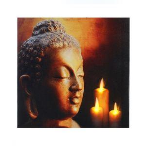 114589A - Tableau zen lumineux à Led Bouddha Or (28 x 28 cm)