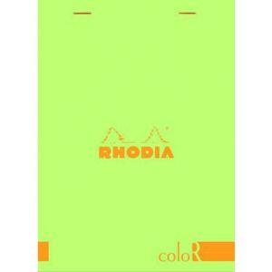Rhodia 16966C - Bloc coloR N°16 anis format 14,8 x 21 cm 140 pages - ligné