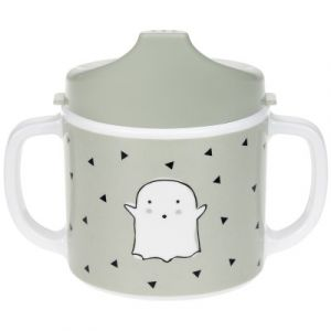 Lässig Tasse enfant Little Spookies olive, bordure silicone