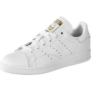 Adidas Stan Smith W, Chaussures de Running Femme, Multicolore (FTWR White/Real Lilac/Raw Gold S18 Cg6014), 39 1/3 EU