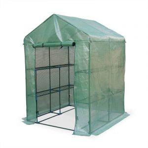 Alice's Garden Serre de jardin Basilic 2m² avec 8 étagères en polyéthylène