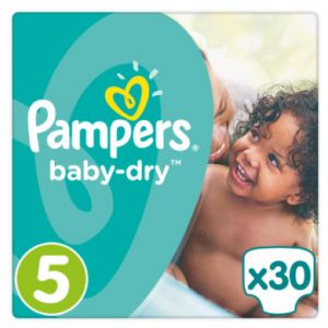 Pampers Baby Dry taille 5, 11%u201323 kg, 30 couches, 1er Pack (1 x 30 pièces)