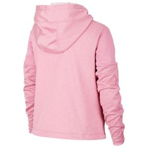 Nike Sweatà capuche de training à motifs Therma pour Fille - Rose - Taille S - Female