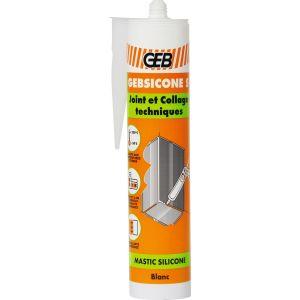 Geb Mastic silicone blanc 310 ml - Gebsicone S