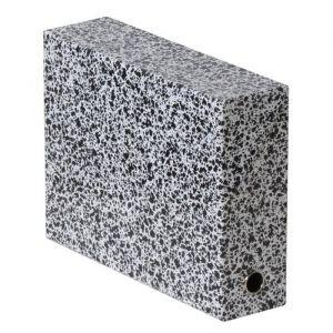 Fast Boite classement en carton marbrée dos 9 cm noir/blanc