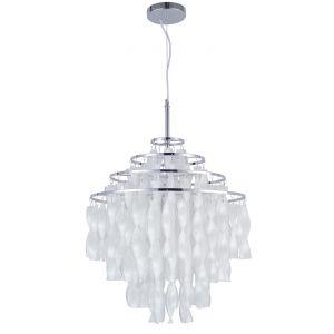 Spirale SP01 - Lampe suspension Verner Panton Ø60 cm en métal chromé et cellidor