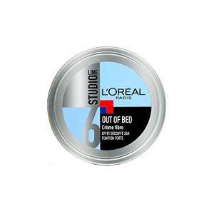 L'Oréal Studio Line Out of Bed Crème Coiffante Cheveux Homme Effet Décoiffé Fixation Forte