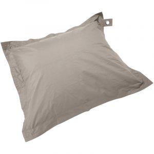 Oviala Housse vide pouf XL imperméable Taupe