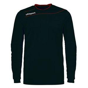 Uhlsport STREAM 3.0 GK avec renforts - Maillot de Gardien Football - Manches longues - Technologie Smartbreathe - noir/rouge - FR : XXS (Taille Fabricant : XXS)