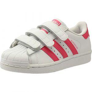 Adidas Superstar CF C Mixte Enfant, Blanc FTWR White Clear Pink, 32 EU